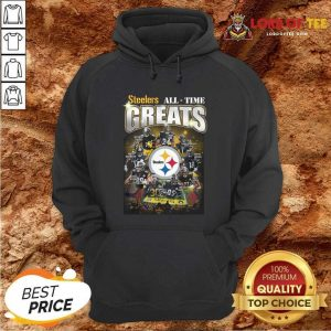 Pittsburgh Steelers Team Football All Time Greats Signatures Hoodie - Desisn By Lordoftee.com