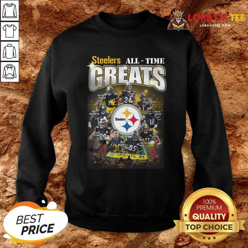 Pittsburgh Steelers Team Football All Time Greats Signatures Sweatshirt - Desisn By Lordoftee.com
