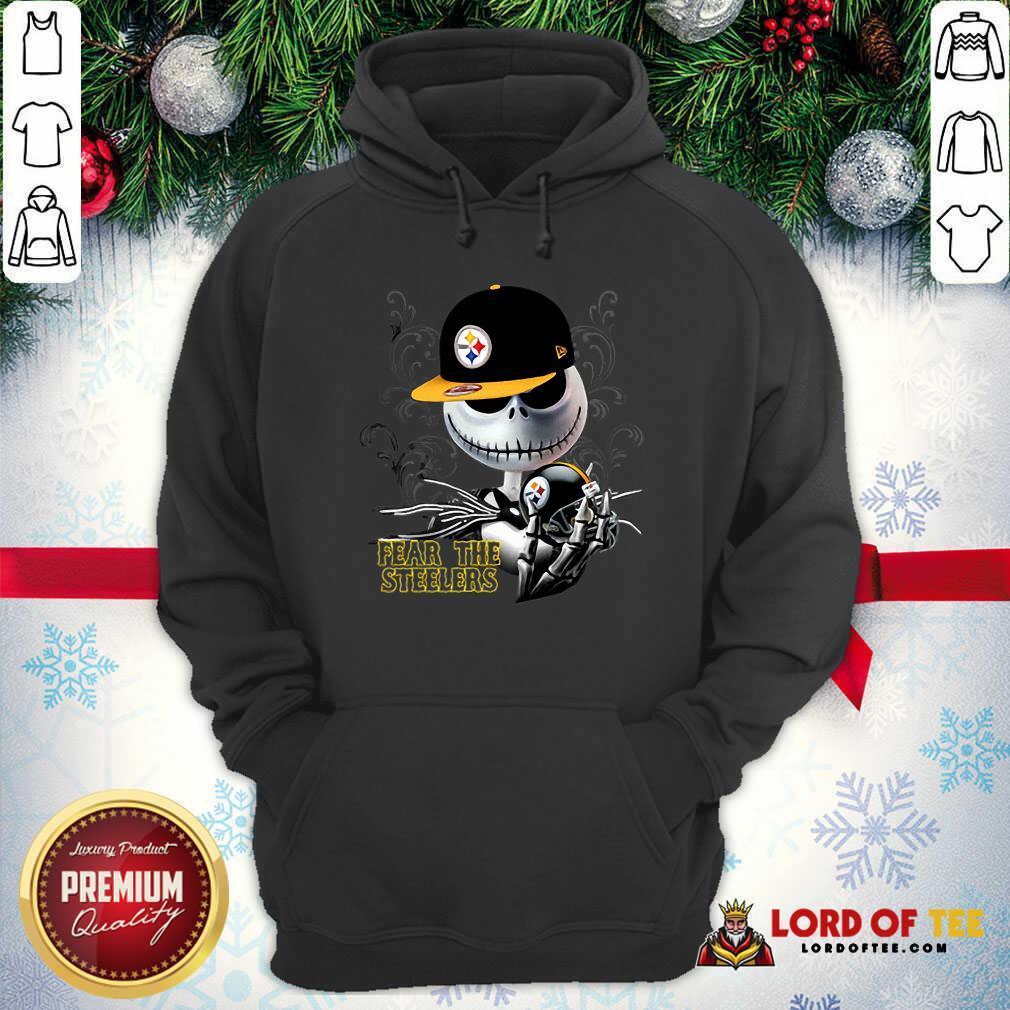 Jack Skellington Fear The Pittsburgh Steelers Hoodie-Design By Lordoftee.com