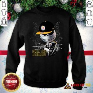 Jack Skellington Fear The Pittsburgh Steelers Sweatshirt-Design By Lordoftee.com