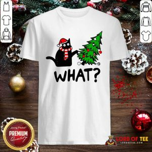 Black Cat Pine What Christmas Shirt-Design By Lordoftee.com