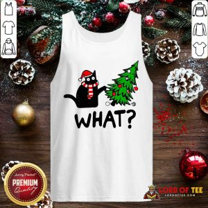 Black Cat Pine What Christmas Tank Top-Design By Lordoftee.com
