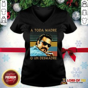 Blood In Blood Out A Toda Madre O Un Desmadre Vintage V-neck - Desisn By Lordoftee.com