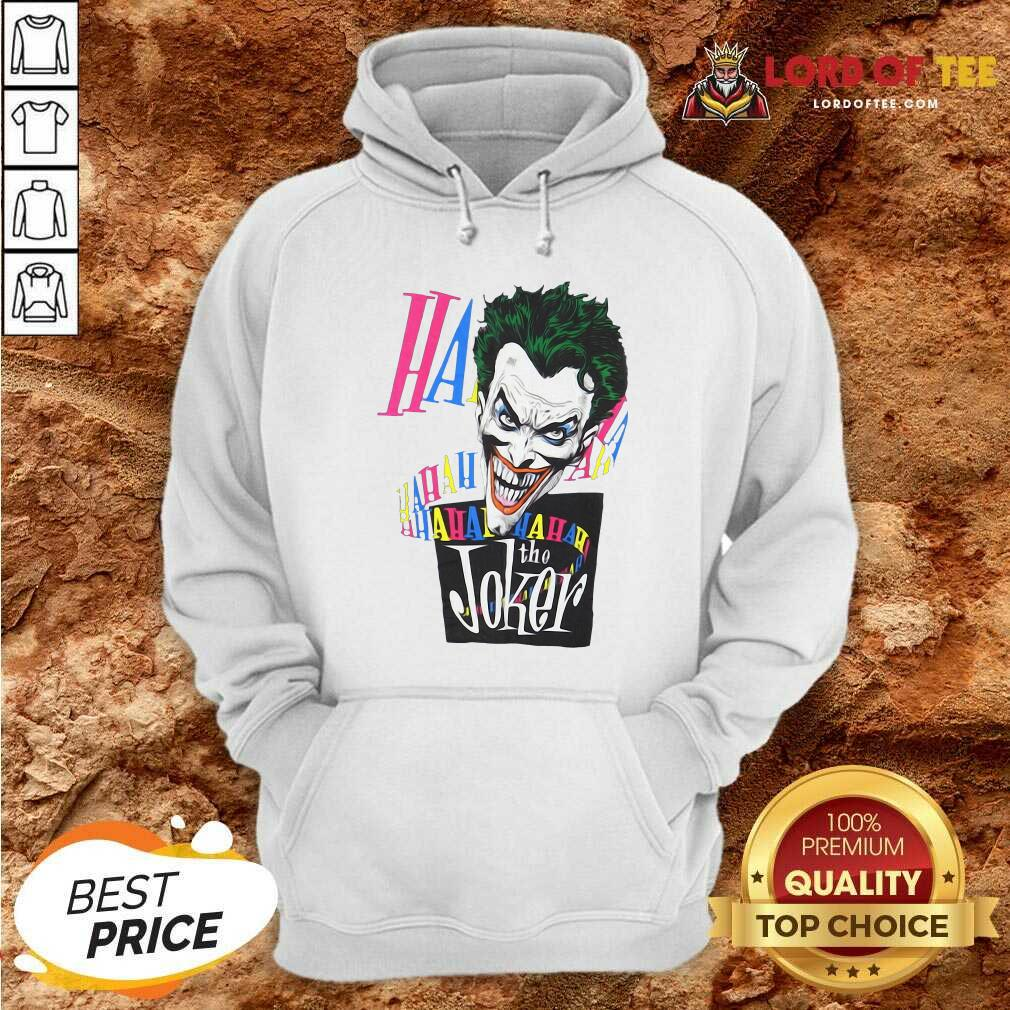 DC Joker Large Brian Bolland Art White 1987 Vintage Hoodie - Desisn By Lordoftee.com