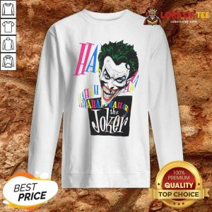 DC Joker Large Brian Bolland Art White 1987 Vintage Sweatshirt - Desisn By Lordoftee.com