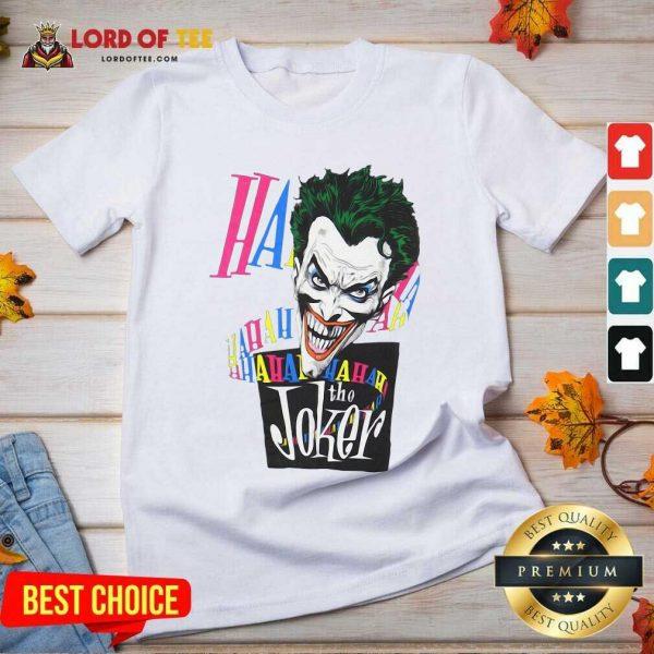 DC Joker Large Brian Bolland Art White 1987 Vintage V-neck - Desisn By Lordoftee.com