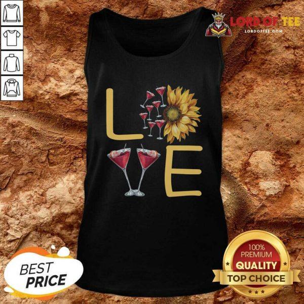 Love Sunflower Wine Tank Top - Desisn By Lordoftee.com