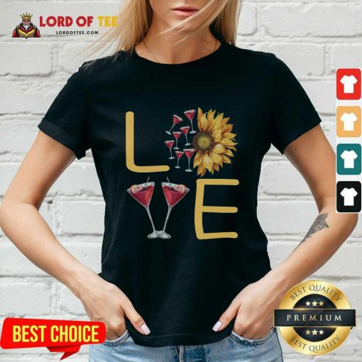 Love Sunflower Wine V-neck - Desisn By Lordoftee.com