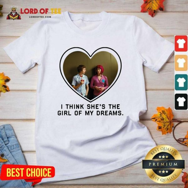 Michael Cera And Mary Elizabeth I Think Shes The Girl Of My Dreams V-neck - Desisn By Lordoftee.com