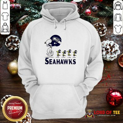 Snoopy And Woodstock Player Of Seattle Seahawks Hoodie - Design By Lordoftee.com