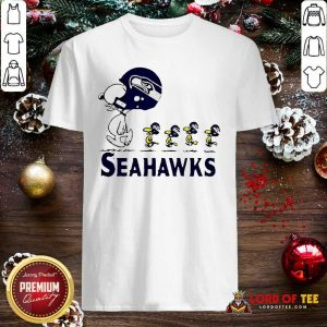 Snoopy And Woodstock Player Of Seattle Seahawks Shirt - Design By Lordoftee.com