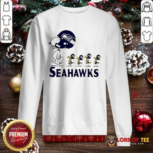 Snoopy And Woodstock Player Of Seattle Seahawks SweatShirt - Design By Lordoftee.com