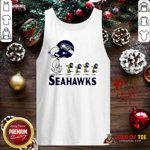 Snoopy And Woodstock Player Of Seattle Seahawks Tank Top - Design By Lordoftee.com