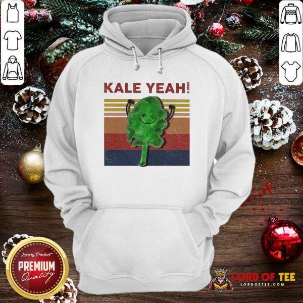 Kale Yeah Vintage Hoodie-Design By Lordoftee.com