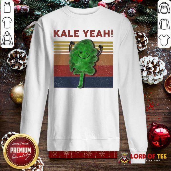 Kale Yeah Vintage Sweatshirt-Design By Lordoftee.com