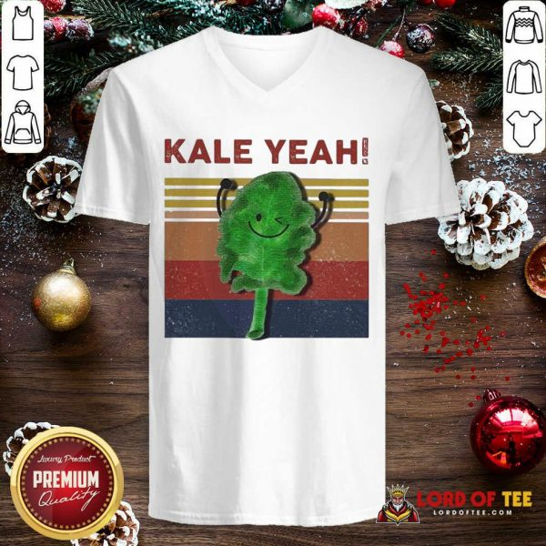 Kale Yeah Vintage V-neck-Design By Lordoftee.com