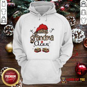 Leopard Grandma Claus Ugly Christmas Sweatshirt-Design By Lordoftee.com