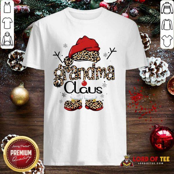 Leopard Grandma Claus Ugly Christmas Shirt-Design By Lordoftee.com