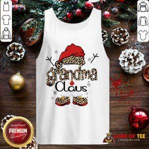 Leopard Grandma Claus Ugly Christmas Tank Top-Design By Lordoftee.com