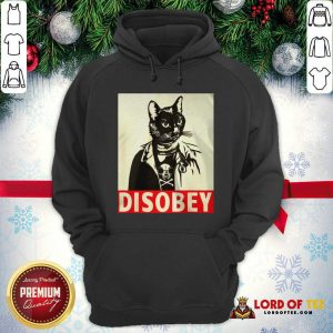 Radical Cat Disobey Hoodie-Design By Lordoftee.com