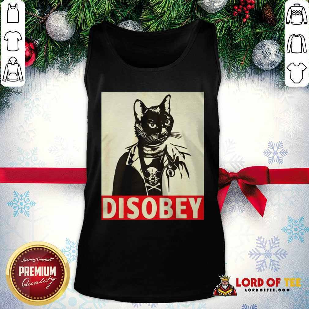 Radical Cat Disobey Tank Top-Design By Lordoftee.com