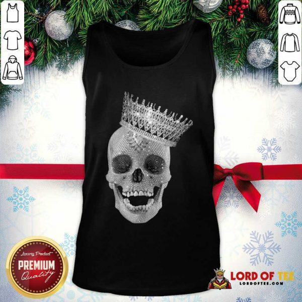 Skull Queen Diamond Tank Top - Desisn By Lordoftee.com