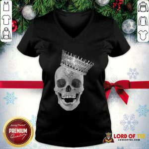 Skull Queen Diamond V-neck - Desisn By Lordoftee.com