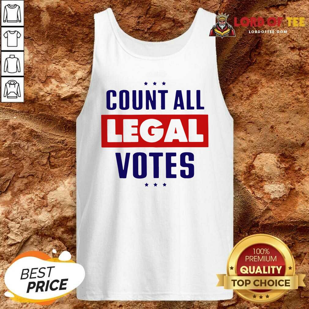 Count All Legal Votes Tank Top - Desisn By Lordoftee.com