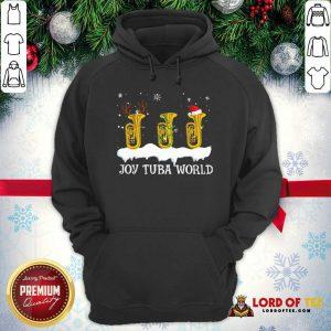 Joy Tuba World Christmas Hoodie-Design By Lordoftee.com