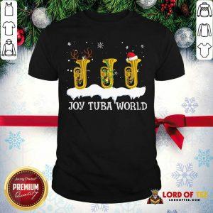 Joy Tuba World Christmas Shirt-Design By Lordoftee.com