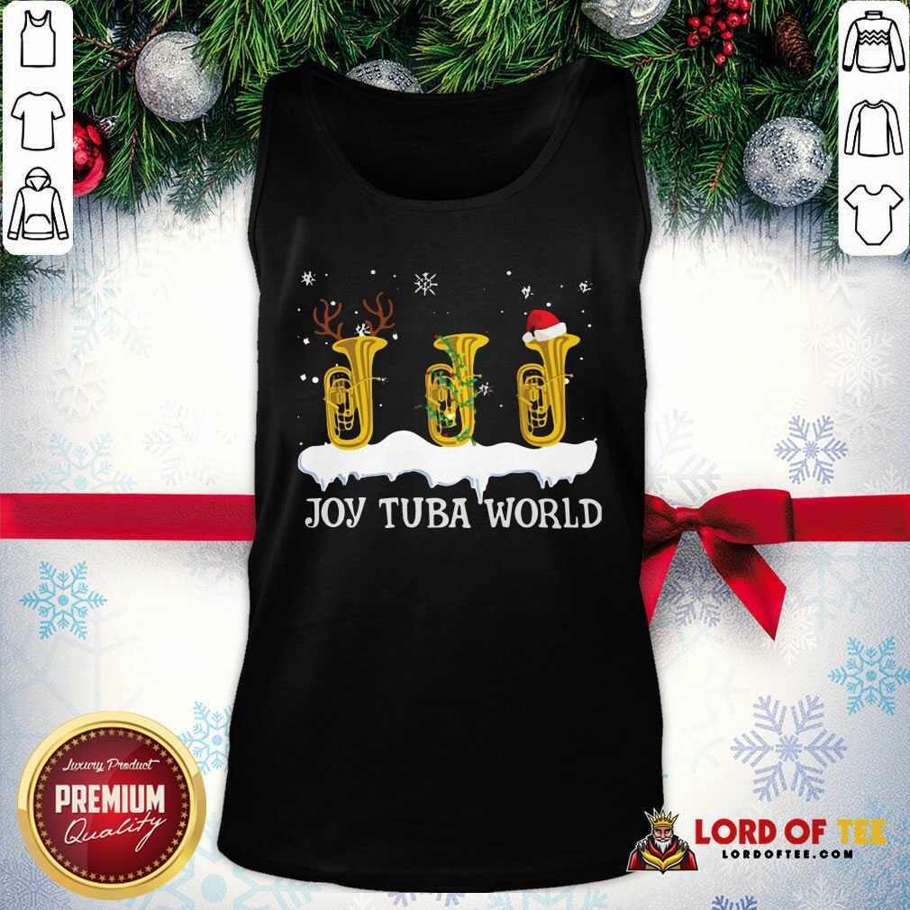 Joy Tuba World Christmas Tank Top-Design By Lordoftee.com