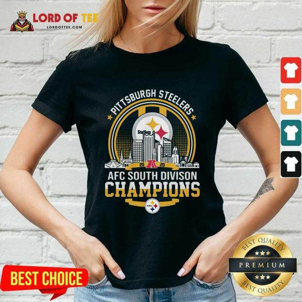 Pittsburgh Steelers 2020 Afc South Division Champions V-neck - Desisn By Lordoftee.com