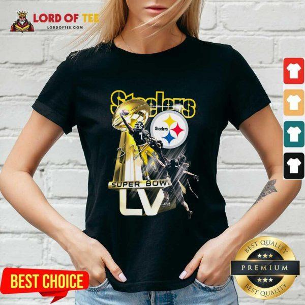 Pittsburgh Steelers Super Bowl Liv Signature V-neck - Desisn By Lordoftee.com