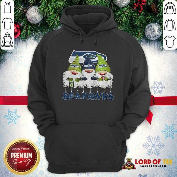 Seattle Seahawks Gnomies Christmas Hoodie-Design By Lordoftee.com