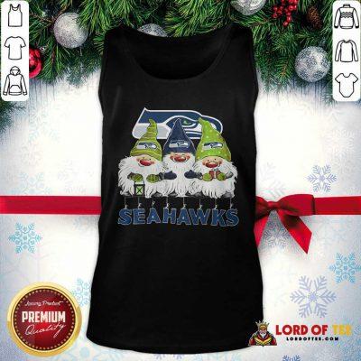 Seattle Seahawks Gnomies Christmas Tank Top-Design By Lordoftee.com