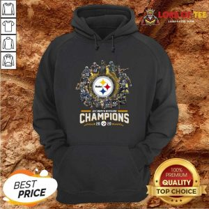 Pittsburgh Steelers Team Football 2020 Afc North Division Signatures Hoodie - Desisn By Lordoftee.com