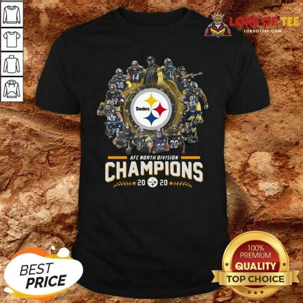 Pittsburgh Steelers Team Football 2020 Afc North Division Signatures Shirt - Desisn By Lordoftee.com