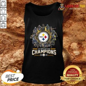 Pittsburgh Steelers Team Football 2020 Afc North Division Signatures Tank Top - Desisn By Lordoftee.com