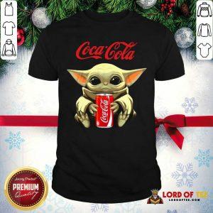 Star Wars Baby Yoda Hugs Coca Cola Soft Drink Shirt-Design By Lordoftee.com