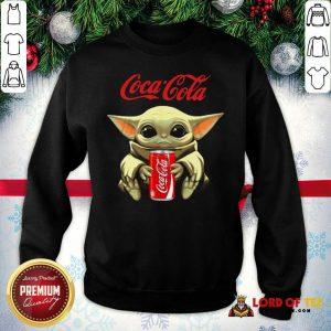 Star Wars Baby Yoda Hugs Coca Cola Soft Drink Sweatshirt-Design By Lordoftee.com
