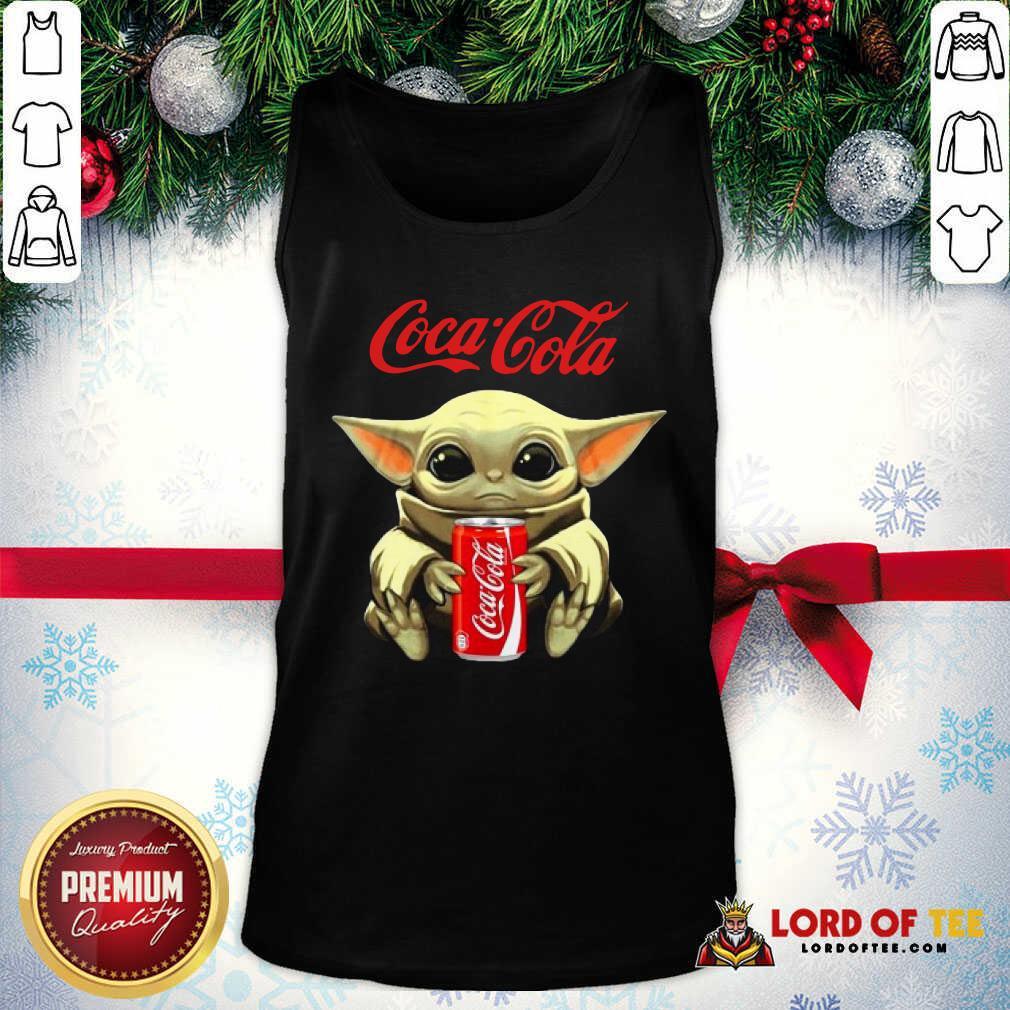 Star Wars Baby Yoda Hugs Coca Cola Soft Drink Tank Top-Design By Lordoftee.com