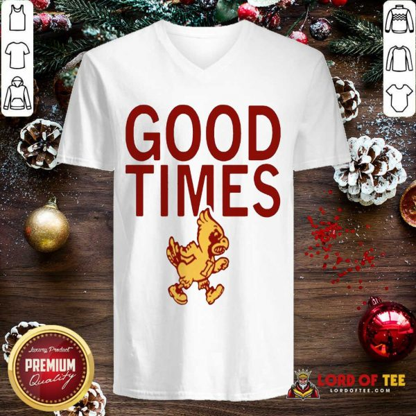 Isu Good Times 2020 V-neck-Design By Lordoftee.com