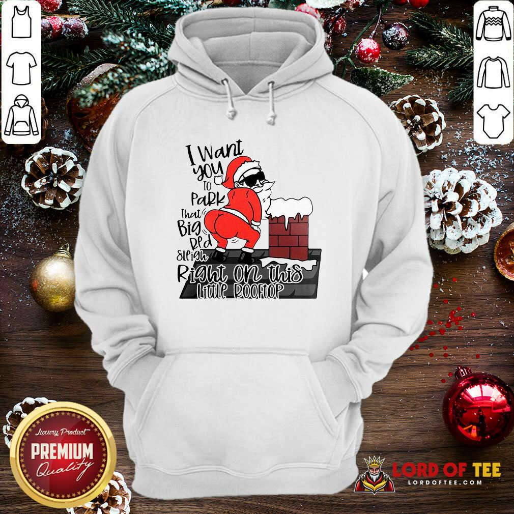Santa Claus I Want You To Park That Big Red And Light Right On This Rooftop Ugly Christmas  Hoodie-Design By Lordoftee.com