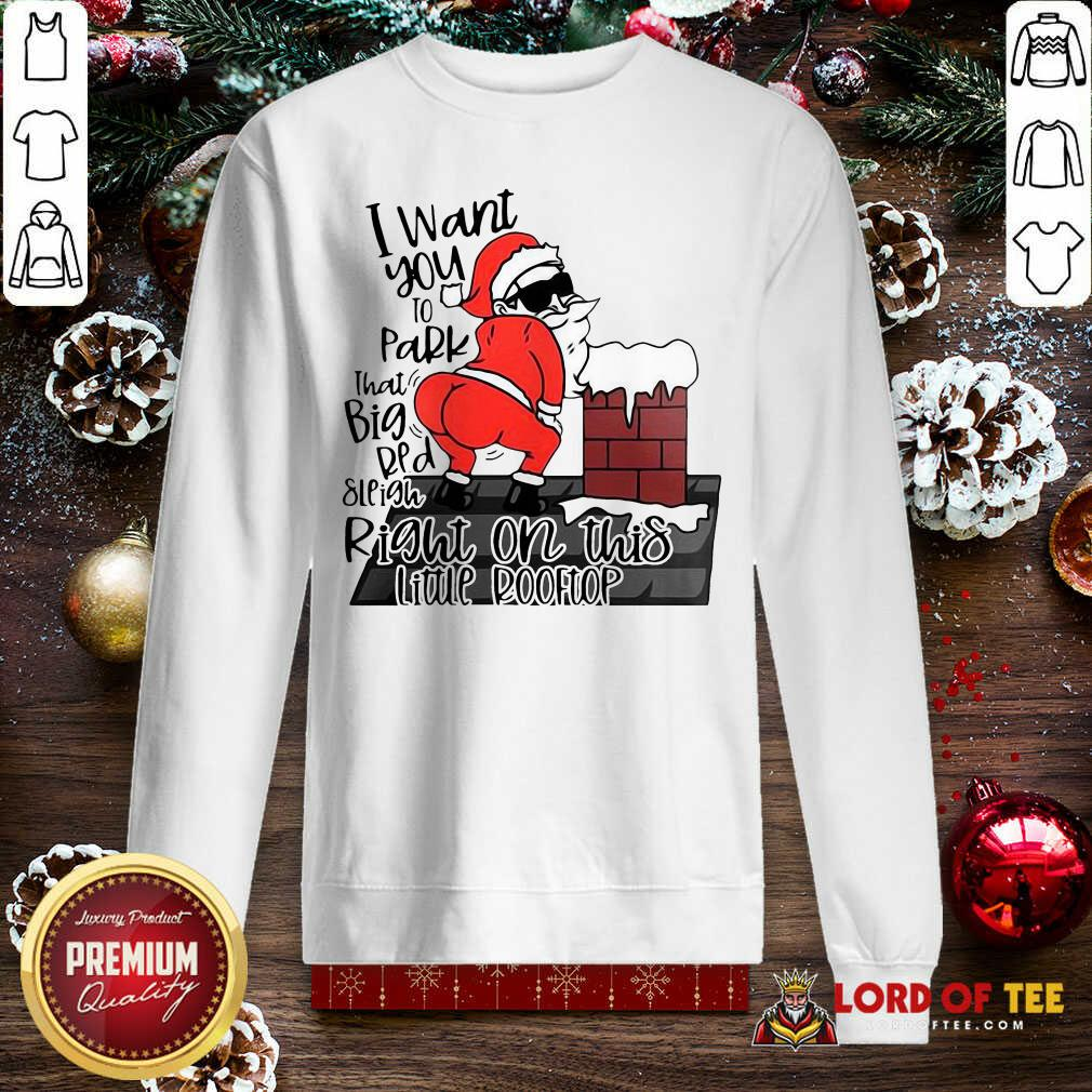 Santa Claus I Want You To Park That Big Red And Light Right On This Rooftop Ugly Christmas  Sweatshirt-Design By Lordoftee.com