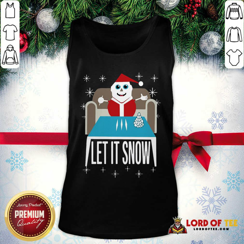 Walmart Cocaine Santa Let It Snow Santa Cocaine Christmas Sweater  Tank Top-Design By Lordoftee.com