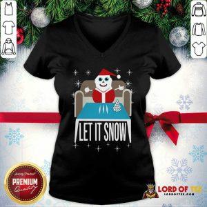 Walmart Cocaine Santa Let It Snow Santa Cocaine Christmas Sweater V-neck-Design By Lordoftee.com