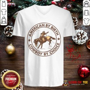 Horse American By Birth Cowboy By Choice V-neck-Design By Lordoftee.com