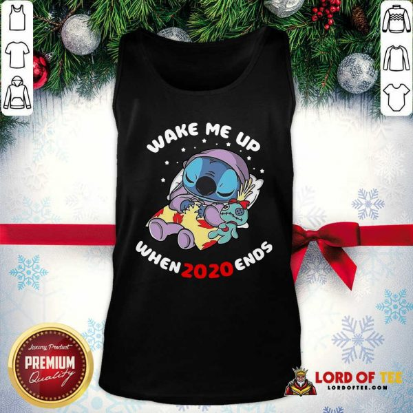 Stitch Wake Me Up When 2020 Ends Tank Top-Design By Lordoftee.com