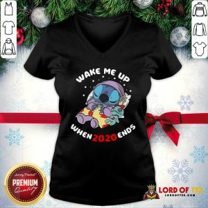 Stitch Wake Me Up When 2020 Ends V-neck-Design By Lordoftee.com