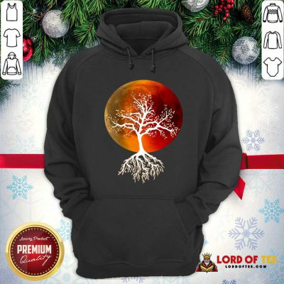 Blood Moon With Tree Moon Lunar Eclipse Moonlight Full Moon Pullover Hoodie - Design By Lordoftee.com